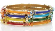 Chamak by Priya Kakkar Resin Enamel Bangle Set